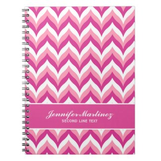 Shades Of Pink And White Zigzag Chevron Pattern