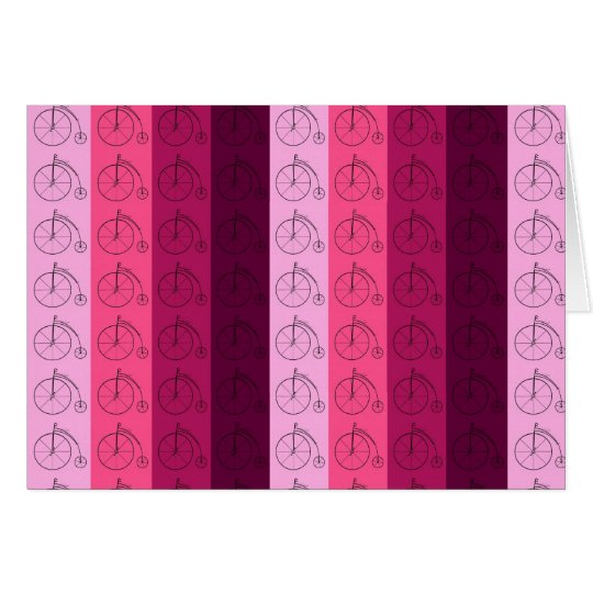 Shades of Pink Bicycles Card