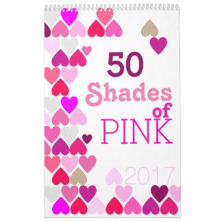 Shades of Pink Calendar