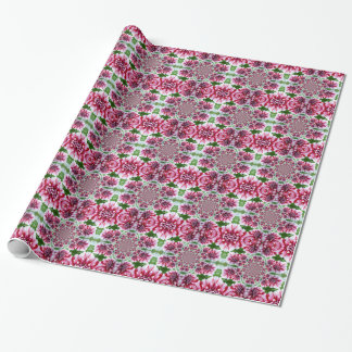 Shades of Pink Flowers Wrapping Paper