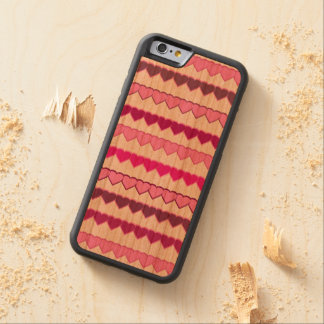 Shades of Pink Heart Rows Carved® Cherry iPhone 6 Bumper