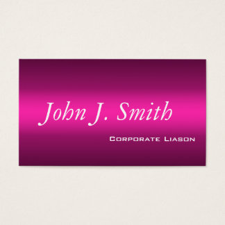 Shades of Pink Modern Standard Business Cards