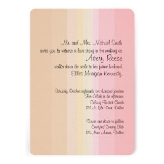 Shades of Pink Ombre Wedding Invitation