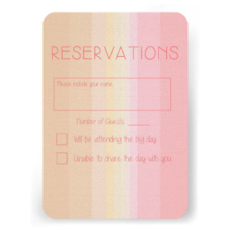 Shades of Pink Ombre Wedding Reply Card