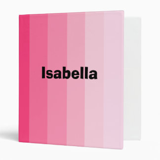 """""""Shades of Pink"""" Personalized Binder"""