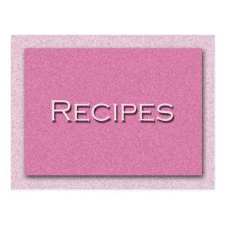 Shades of Pink Recipe Card