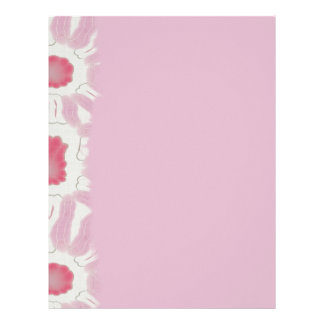 Shades of Pink Retro Floral Abstract Pattern Letterhead