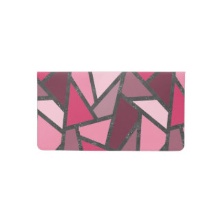 Shades of pink stained glass pattern checkbook cover