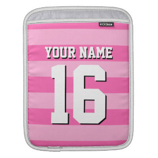 Shades of Pink Team Jersey Preppy Stripe Sleeve For iPads