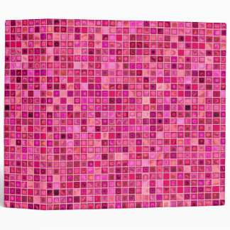 Shades Of Pink 'Watery' Mosaic Tile Pattern Binder