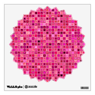 Shades Of Pink 'Watery' Mosaic Tile Pattern Wall Sticker