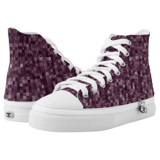 Shades Of Plum High-Top Sneakers
