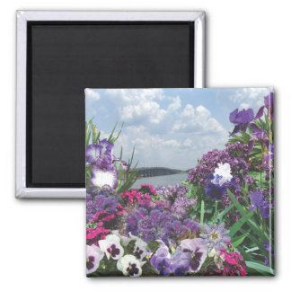 shades of purple 2 inch square magnet