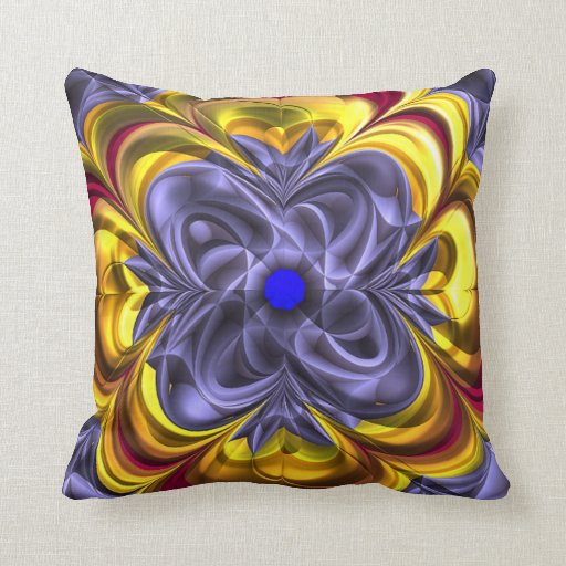 Shades of Purple and Gold Pillow