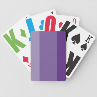 Shades of Purple Bicycle Playing Cards