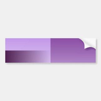 shades of purple bumper stecker car bumper sticker