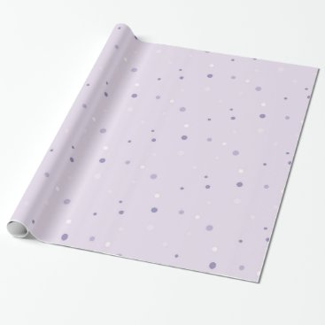 Halloween Themed shades of purple dots wrapping paper