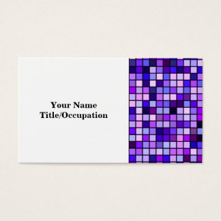 Shades Of Purple 'Grape Soda' Squares Pattern Business Card
