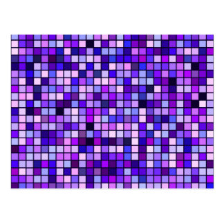 Shades Of Purple 'Grape Soda' Squares Pattern Postcard