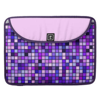 Shades Of Purple 'Grape Soda' Squares Pattern Sleeve For MacBooks