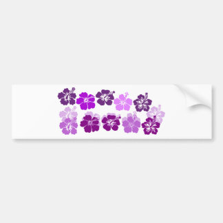 Shades of Purple hibiscus Bumper Sticker