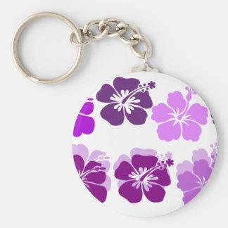 Shades of Purple hibiscus Keychain