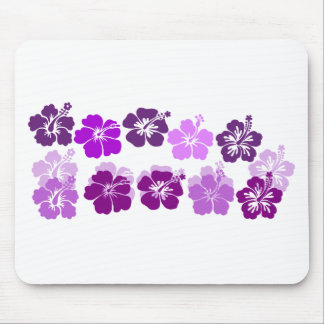 Shades of Purple hibiscus Mouse Pad