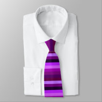 Shades of Purple Horizontal Stripes Tie