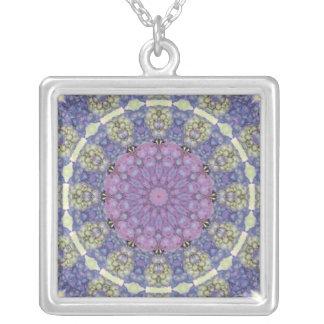 Shades of purple kaleidoscope design necklace