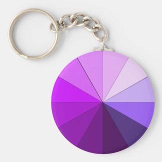 shades of purple keychain