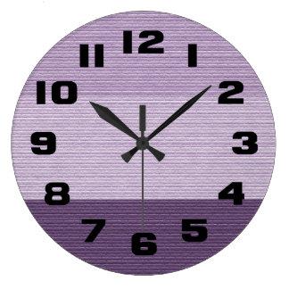 Shades of Purple Large Clock