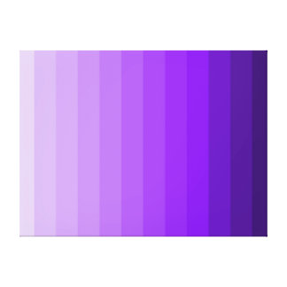 Shades of purple ombre gradient modern wall art canvas print