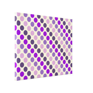 Shades Of Purple Polka Dots Canvas Print