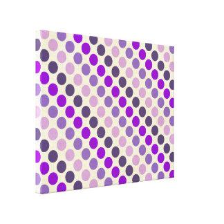 Shades Of Purple Polka Dots Canvas Print