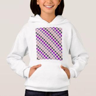 Shades Of Purple Polka Dots Hoodie