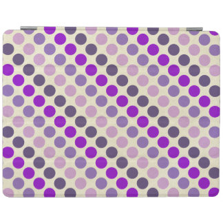Shades Of Purple Polka Dots iPad Cover
