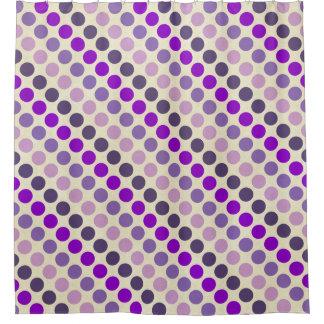 Shades Of Purple Polka Dots Shower Curtain