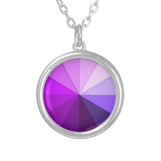 shades of purple round pendant necklace