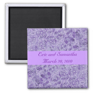 Shades of Purple Save the date wedding magnets