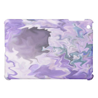 Shades of purple swirly jagged abstract design case for the iPad mini