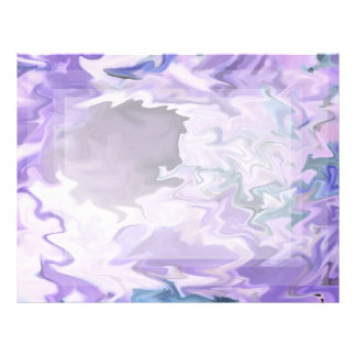 Shades of purple swirly jagged abstract design letterhead