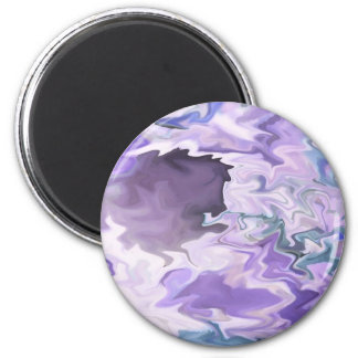 Shades of purple swirly jagged abstract design magnet