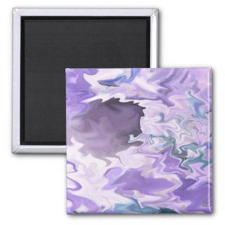 Shades of purple swirly jagged abstract design magnets