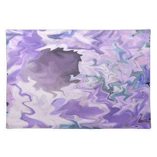Shades of purple swirly jagged abstract design placemat