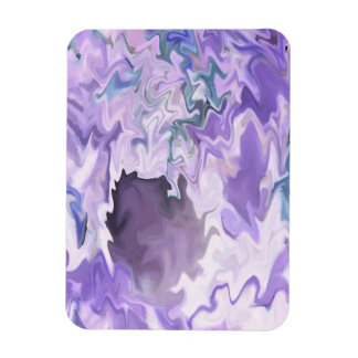 Shades of purple swirly jagged abstract design rectangle magnets