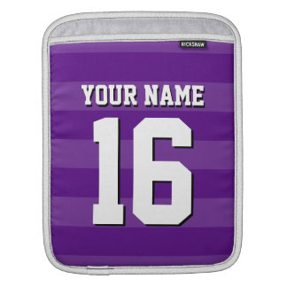 Shades of Purple Team Jersey Preppy Stripe Sleeve For iPads