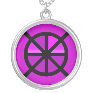 Shades of Purple Wheel of Life Necklace