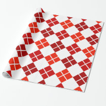 Shades of Red Argyle Patterned Wrapping Paper