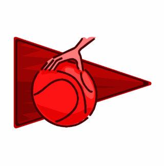 Shades of red basketball logo photo cutout