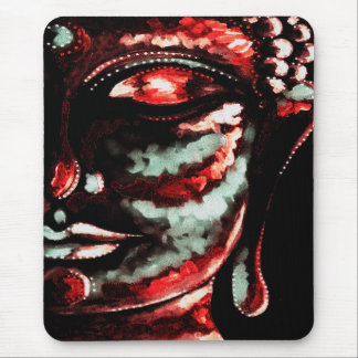 SHADES OF RED BUDDHA FACE MOUSEPAD